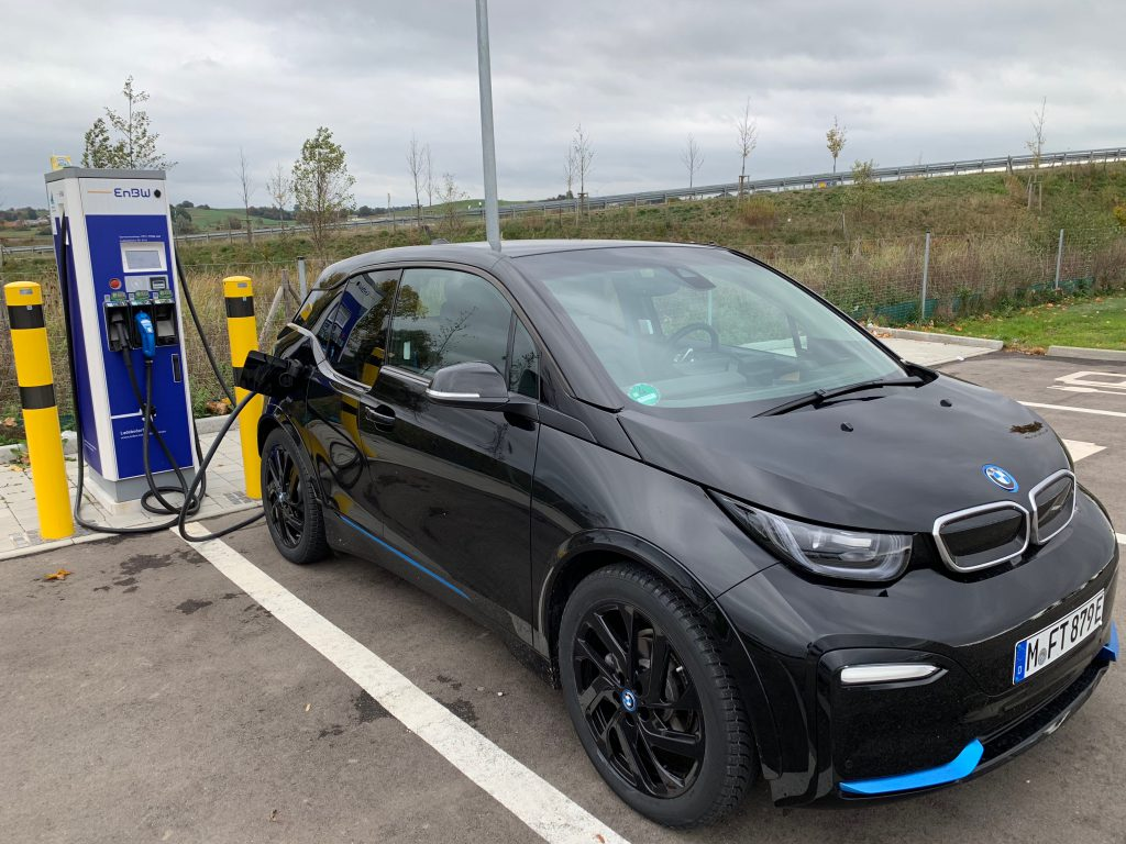 BMW i3s at an EnBW charging spot